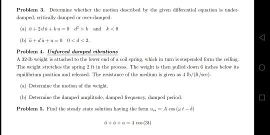 Solved: Problem 3  Determine Whether The Motion Described