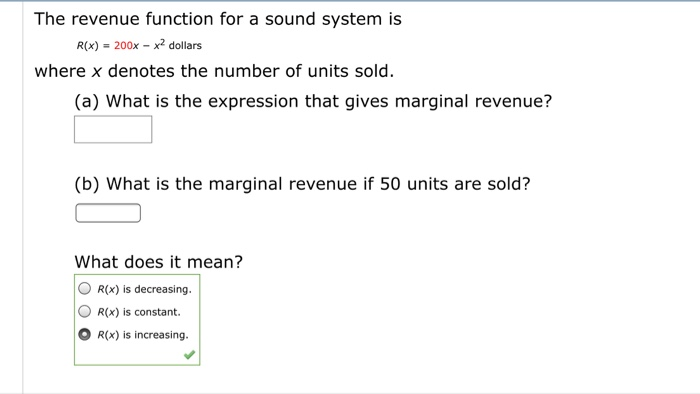 how to find the marginal revenue function