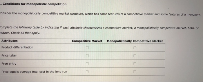 which of the following is characteristic of a competitive market