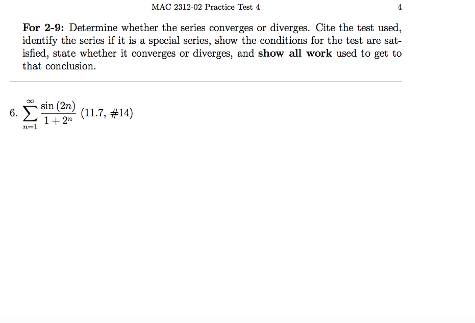 Solved: MAC 2312-02 Practice Test 4 4 For 2-9: Determine W