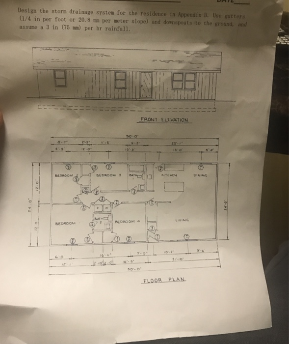 Design The Storm Drainage System For Residence In Endix D Use Sutters 1