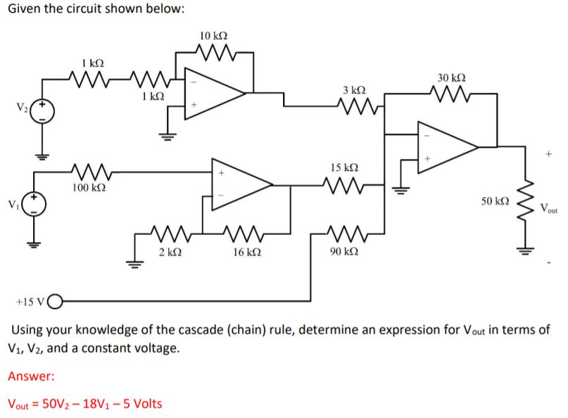 Solved: Given The Circuit Shown Below: 30 K2 1 K2 100 K2 5