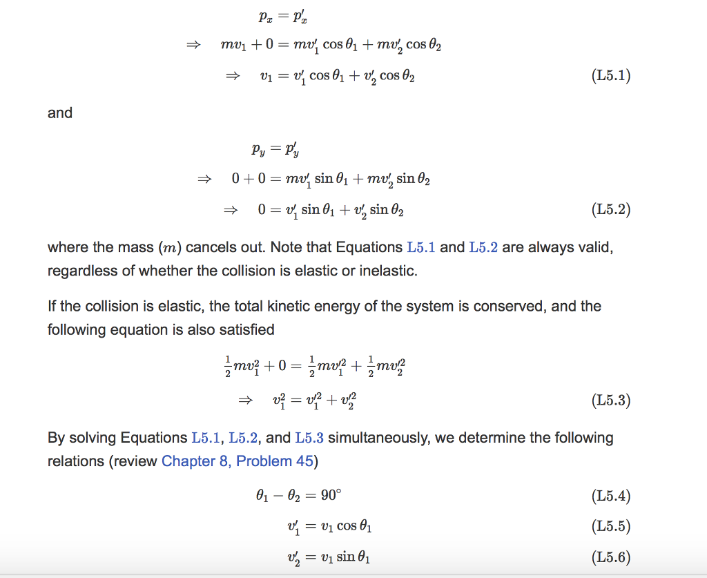 Solved Starting From The Equations L5 1 L5 2 And L5 3 S
