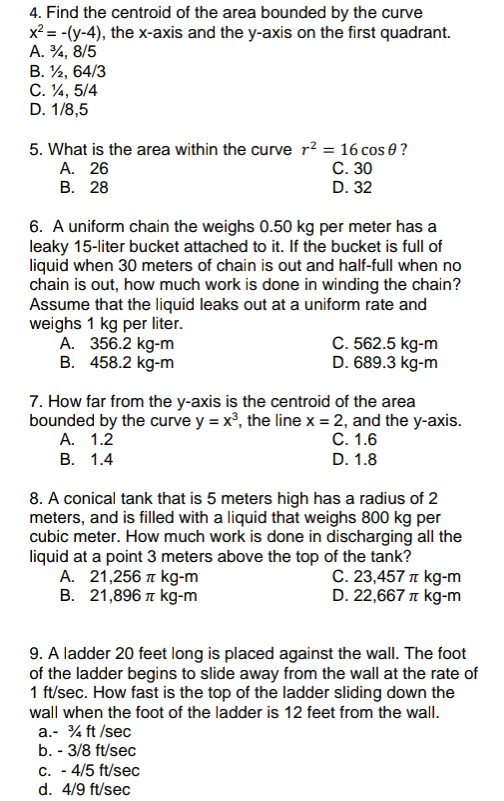 Solved 4 Find The Centroid Of The Area Bounded By The Cu Chegg Com