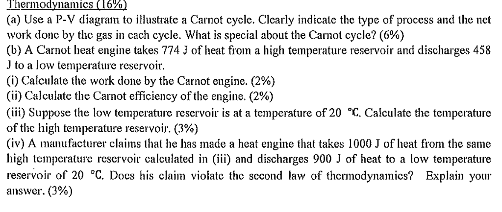 Solved  3  A Carnot Engine Operates Between Temperatures 5