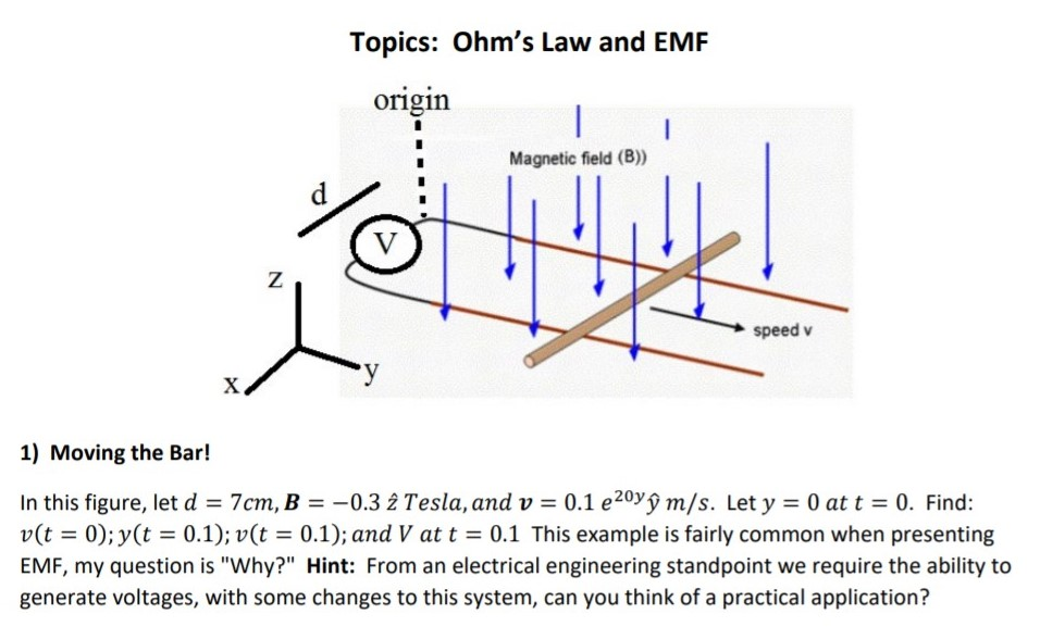 Solved: Topics: Ohm's Law And EMF Origin Magnetic Field (B