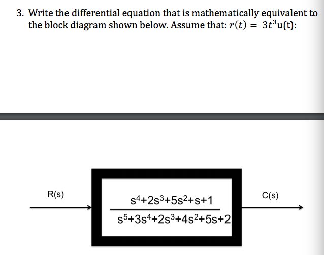 Solved  3  Write The Differential Equation That Is Mathema