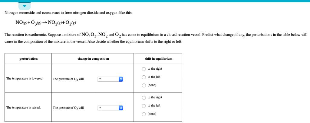 Solved: Nitrogen Monoxide And Ozone React To Form Nitrogen