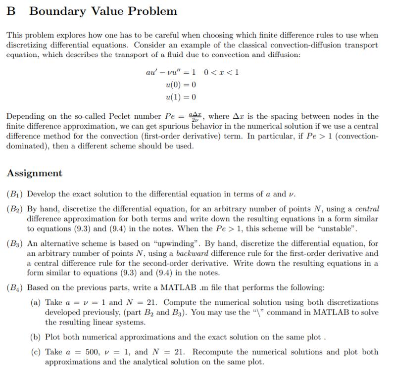 Solved: B Boundary Value Problem This Problem Explores How