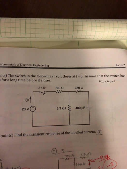 Solved: Ndamentals Of Electrical Engineering AY18-2 Nts) T