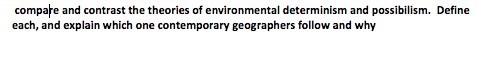 define environmental possibilism