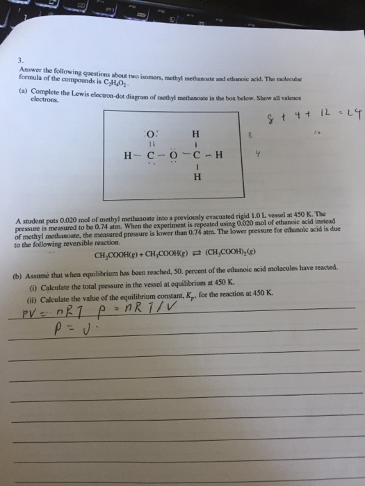 Solved 3 Answer The Following Questions About Two Isomer