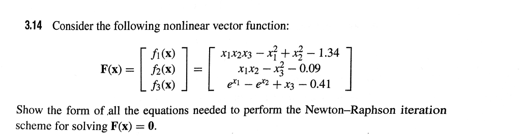 solved 3 14 consider the following nonlinear vector funct