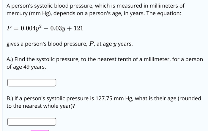 Solved A Person S Systolic Blood Pressure Which Is Measu