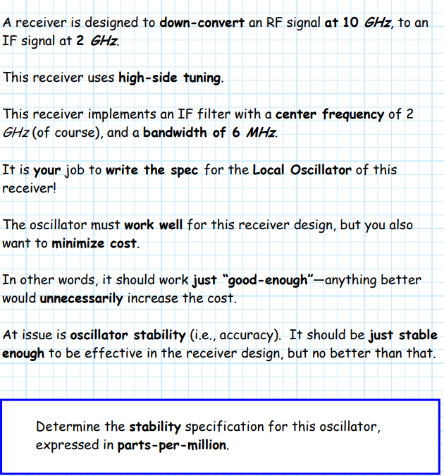 A Receiver Is Designed To Down-convert An RF Signa    | Chegg com