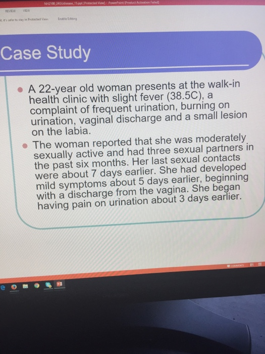 Solved Case Study A 22-Year Old Woman Presents At The Wal -8923