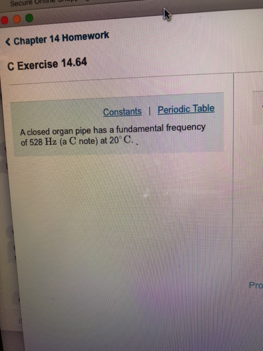 Solved: Secure OHnne Bn K Chapter 14 Homework C Exercise 1