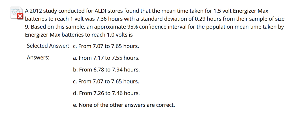 Solved: A 2012 Study Conducted For ALDI Stores Found That