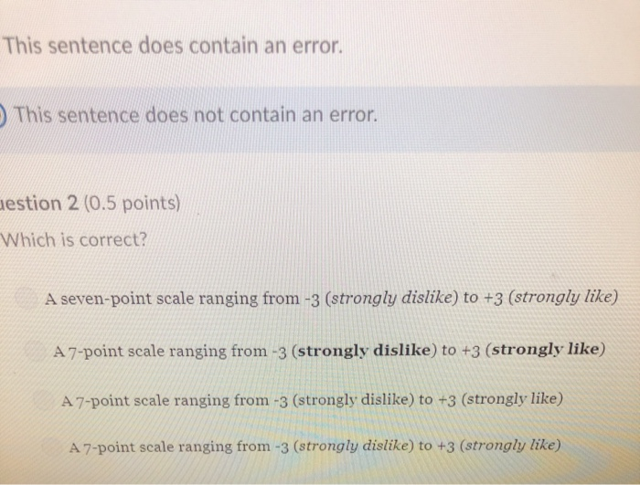 Solved: This Sentence Does Contain An Error  This Sentence