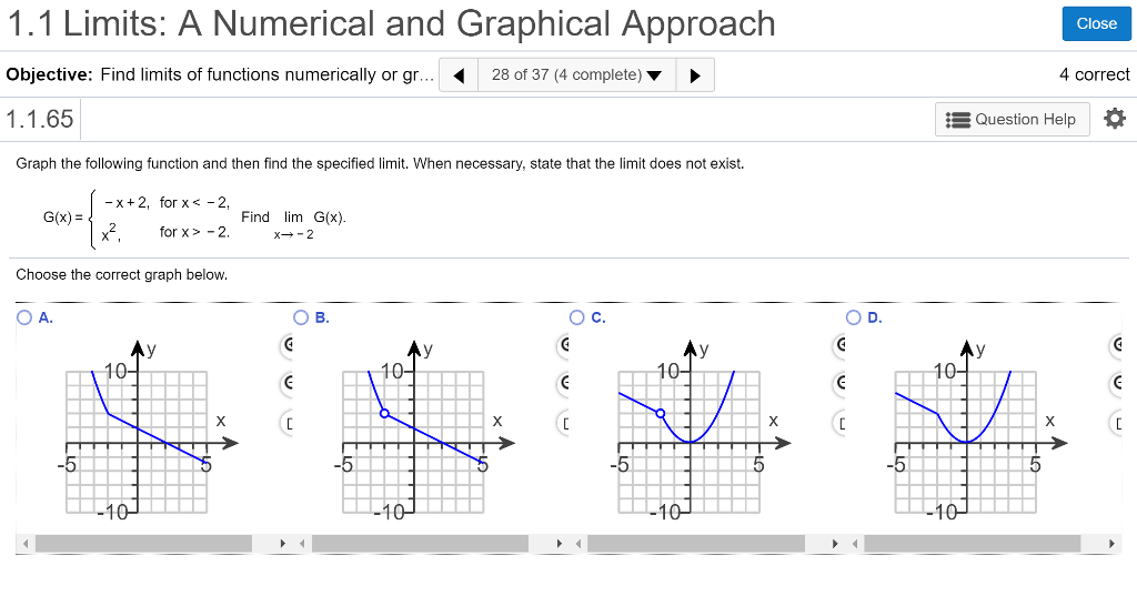 Solved: 1.1 Limits: A Numerical And Graphical Approach Obj ...