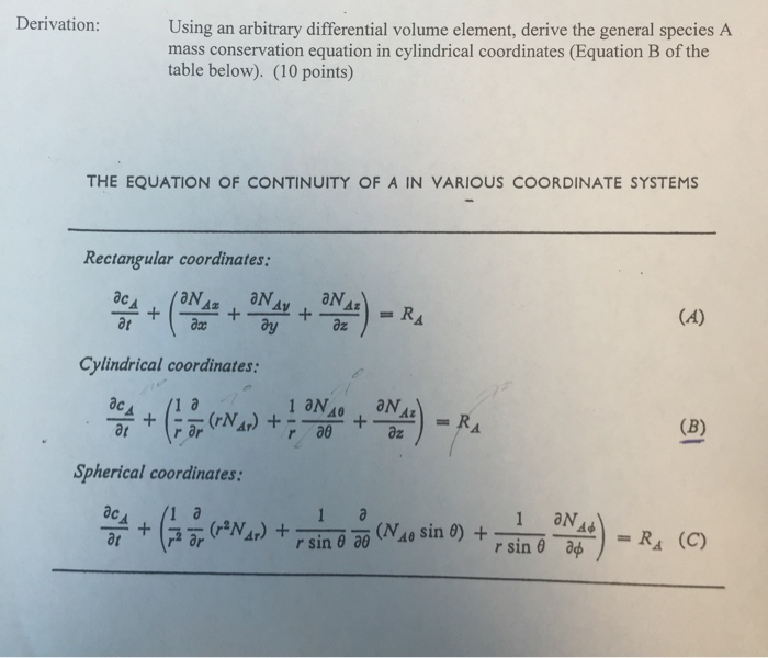 Solved: Using An Arbitrary Differential Volume Element, De