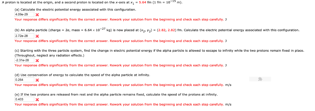 A proton is located at the origin, and a second proton is located on the x-axis at x1 5.64 fm (1 fm·10-s m (a) Calculate the