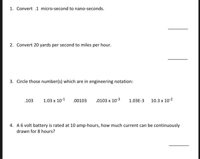 Convert 1 Micro Second To Nano Seconds 2 20