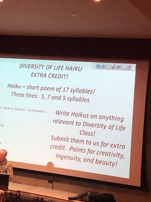 Solved: DIVERSITY OF LIFE HAIKU EXTRA CREDIT Haiku-short P