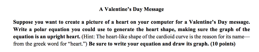 Solved A Valentine S Day Message Suppose You Want To Crea