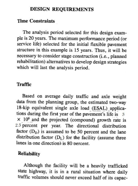 Flexible Pavement Design Problem Chegg Com