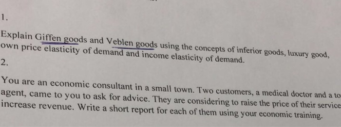 difference between giffen and veblen goods