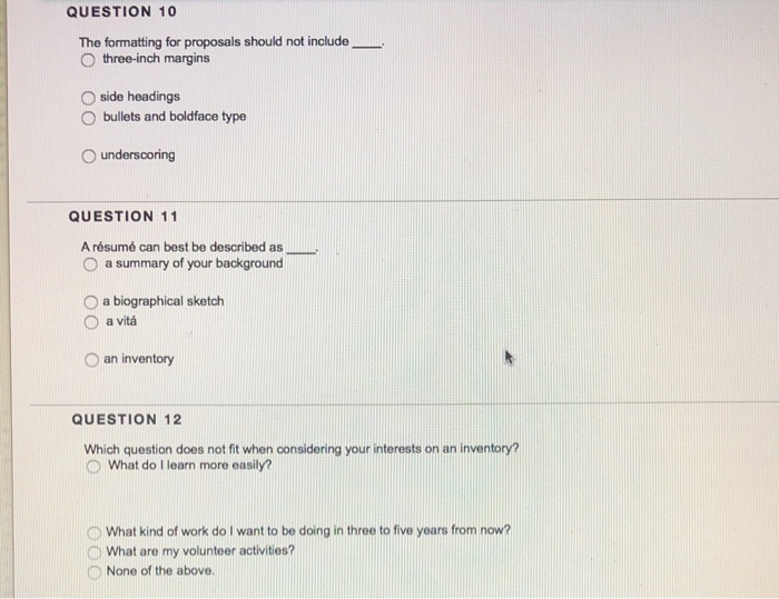 Solved Question 1 The Resume Format Allows The Applicant