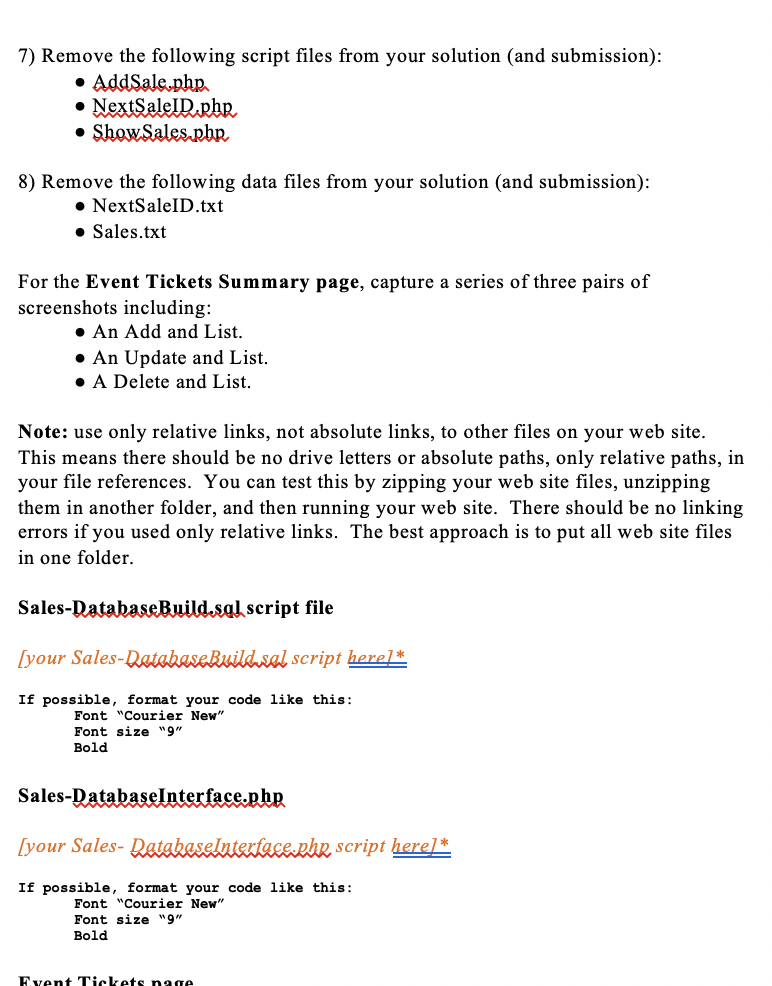 HTML  Attached Is The Events Tickets Summary Page
