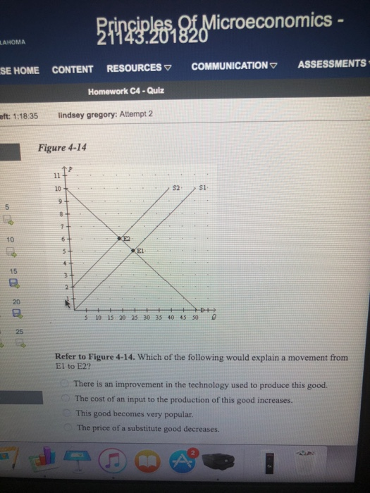 Solved: Icroeconomics LAHOMA SEHOME CONTENT RESOURCES COMM