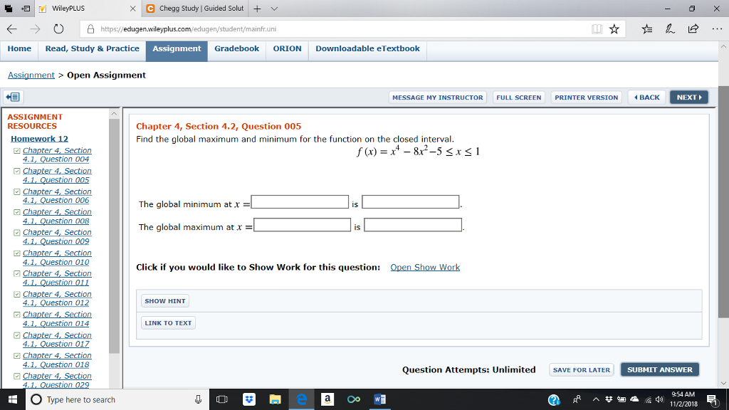 Solved: XC Chegg Study | Guided Solut 归| WileyPLUS