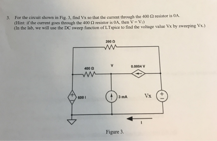 solved for the circuit shown in fig 3 find vx so that t rh chegg com