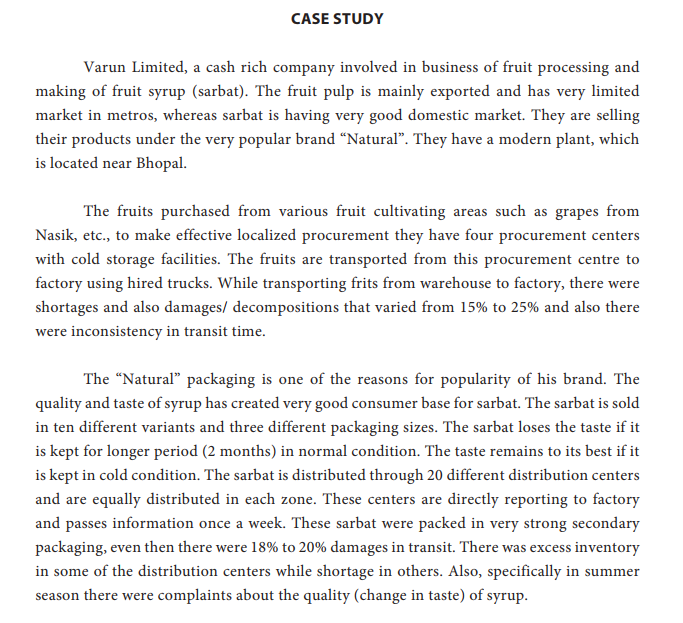 Solved: CASE STUDY Varun Limited, A Cash Rich Company Invo