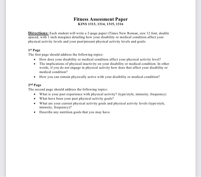 Essay on physical fitness
