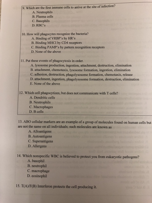 Solved: Answer Questions 9-15 Multiple Choice   Chegg com
