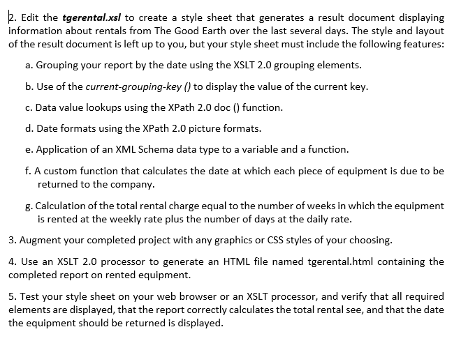 XML Assignment 3 Building XML Applications With XS    | Chegg com