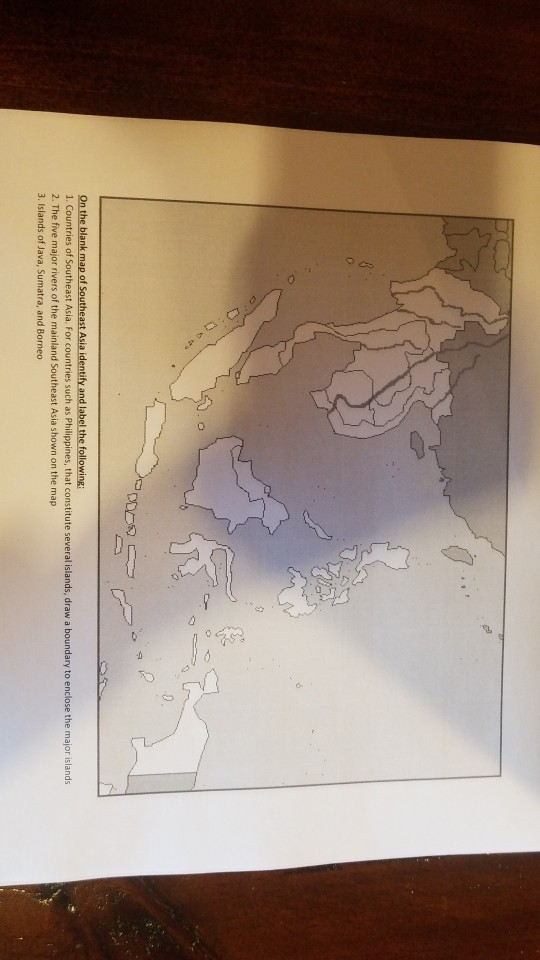 Blank Map Of Southeast Asia To Label.Solved On The Blank Map Of S 1 Countries Of Southeast As