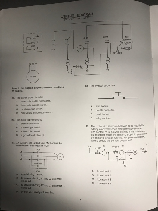 Solved  Wiring Diagram 440 Volt3 60 Hz  U0026quot 1 U54e9 Sec If Used T2