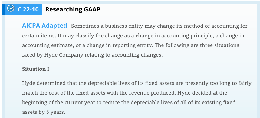 Solved: с 22-10 Researching GAAP AICPA Adapted Sometimes A