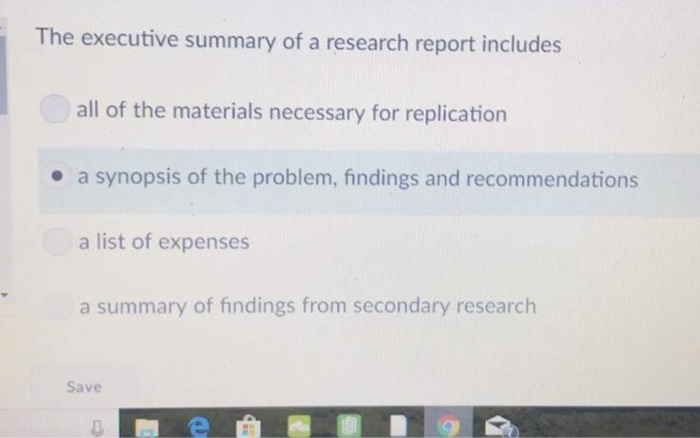 relationship between research synopsis and research report