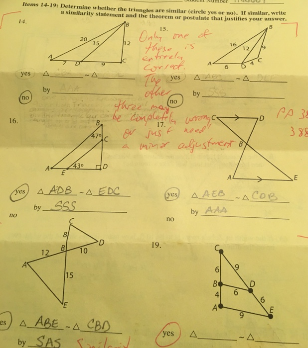 Solved: Determine Whether The Triangles Are Similar (circl