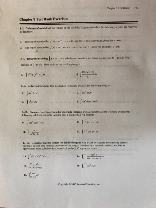 Solved: Chapter8Test Bank 197 Chapter 8 Test Bank Exercise