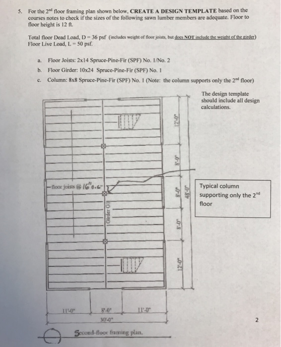 Floor Framing Plan Shown Below