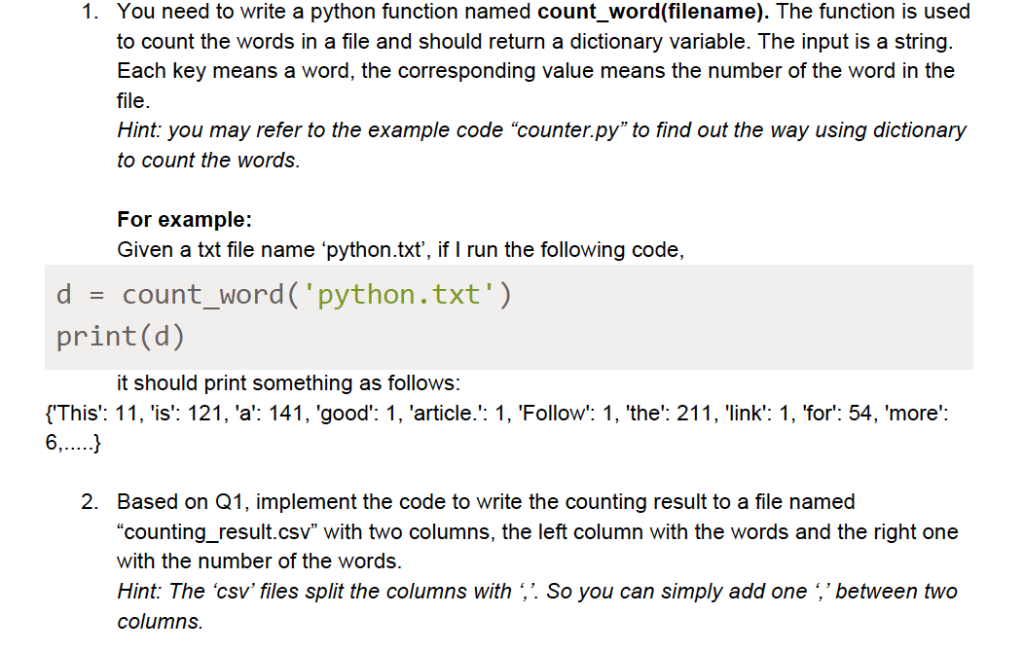 Solved: 1  You Need To Write A Python Function Named Count