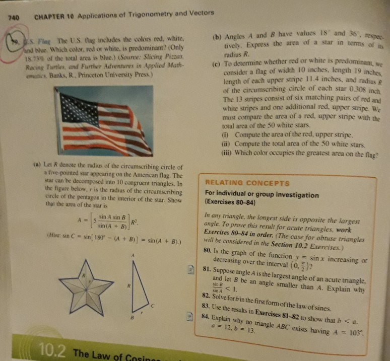 740 CHAPTER 10 Applications Of Trigonometry And Ve    | Chegg com