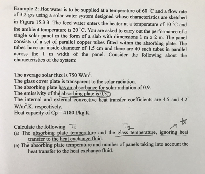 Solved: Example 2: Hot Water Is To Be Supplied At A Temper